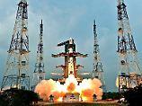Die Trägerrakete PSLV ist das Arbeitspferd der indischen Weltraumbehörde ISRO.