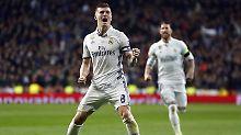Toni Kroos trifft gegen Neapel zum ersten mal für Real Madrid in der Champions League.