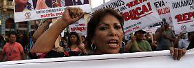 Proteste in Lima.