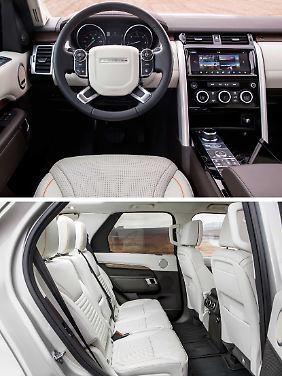 Mehr Luxus und viel Platz bietet der Land Rover Discovery im Innenraum.