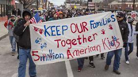 Eine Demonstration gab es auch in Detroit.