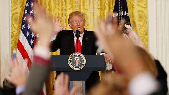 Trump tut sich derzeit vor allem durch unzählige Lügen hervor.