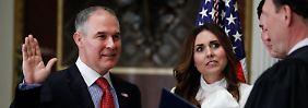 Widerstand in US-Umweltbehörde: Klimawandel-Skeptiker Pruitt ist EPA-Chef