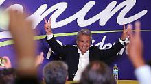 Präsidentschaftswahl in Ecuador: Linker Kandidat gewinnt erste Runde deutlich