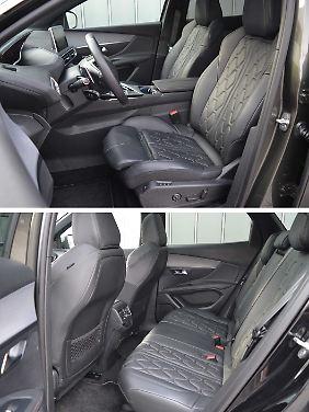 AGR-zertifizierte Sitze für die erste Reihe und ausreichend Platz im Fond: Auch das ist der Peugeot 3008 GT.