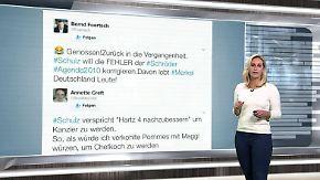 n-tv Netzreporterin: Internetnutzer sehen Schulz' Agenda-Pläne skeptisch