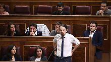 Spanische Partei kompromisslos: Podemos marschiert in die Sackgasse