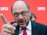 Die SPD, 1994 und 2017: Knickt Schulz ein - wie Scharping?