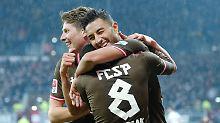 Karlsruhe geht in Hamburg baden: St. Pauli triumphiert im Abstiegsduell