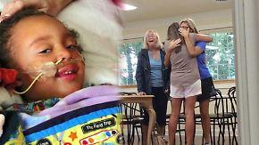 Tränen der Rührung: Vierjährige schwer kranke Lyla gerettet