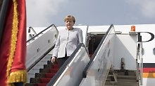 Angela Merkel bei ihrer Ankunft in Kairo: Nach Libyen konnte die Kanzlerin derzeit nicht reisen.