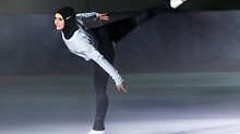 "Eiskunstläuferin Zahra Lari ist bereits völlig begeistert vom ""Nike Pro Hijab""."