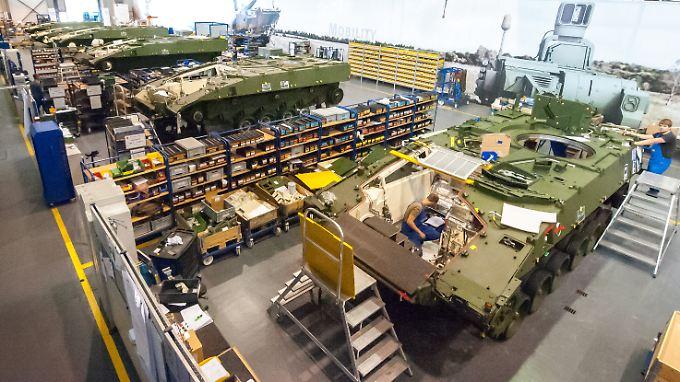 Panzerbau bei Rheinmetall in Unterlüß (Niedersachsen). Das Unternehmen will künftig auch in der Türkei produzieren.