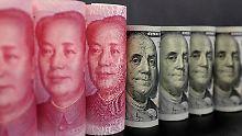 Der Yuan hat 2016 zum US-Dollar kräftig nachgegeben.