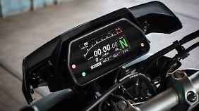 Drei Fahrmodi können bei der Yamaha MT-10 SP gewählt werden.