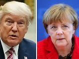 Merkel im Weißen Haus: Trumps Beleidigungen sind Geschichte