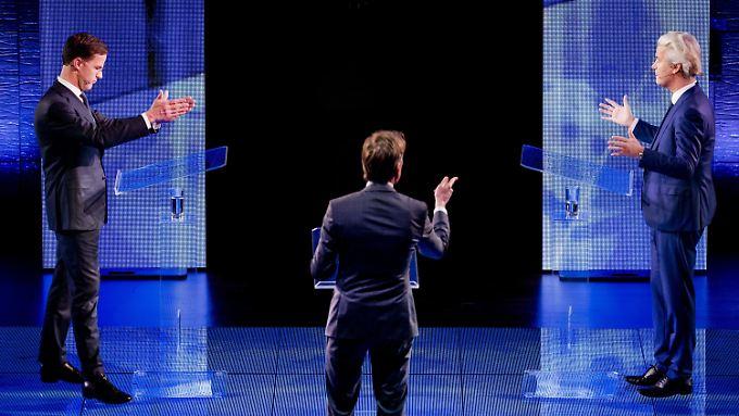 """Rutte (l.) und Wilders: """"Regieren ist etwas anderes als twittern""""."""