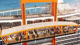"Auf der ""Celebrity Edge"" gibt es den ""Magic Carpet""."