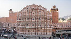 Beeindruckende Architektur in Jaipur.