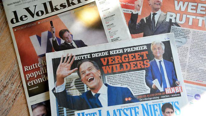 Überraschend deutlich hinter Mark Ruttes VVD landete Geert Wilders' PVV.