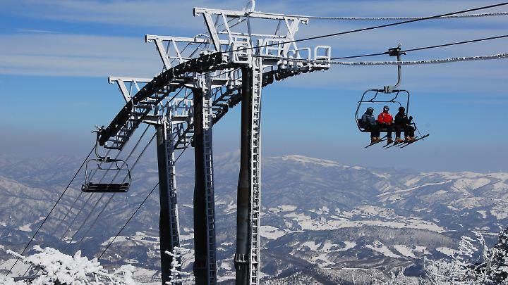 Skilift im Yongpyeong-Resort.