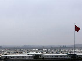 Ein Flüchtlingslager in der Provinz Kilis an der türkisch syrischen Grenze. Die Türkei hat knapp drei Millionen Flüchtlinge aus dem Nachbarland aufgenommen.