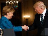 """Erstes Treffen mit Merkel: Trump: """"Ich bin kein Isolationist"""""""