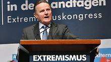 Der Berliner AfD-Fraktionschef Georg Pazderski auf dem Extremismus-Kongress.