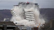 Wahrzeichen in Sekunden zerstört: Bonn-Center wird gesprengt