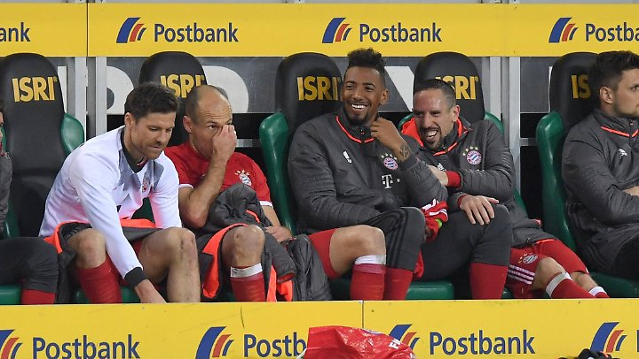 Arjen Robben fand seine Auswechslung nicht so witzig wie die Herren Alonso, Boateng und Ribéry.