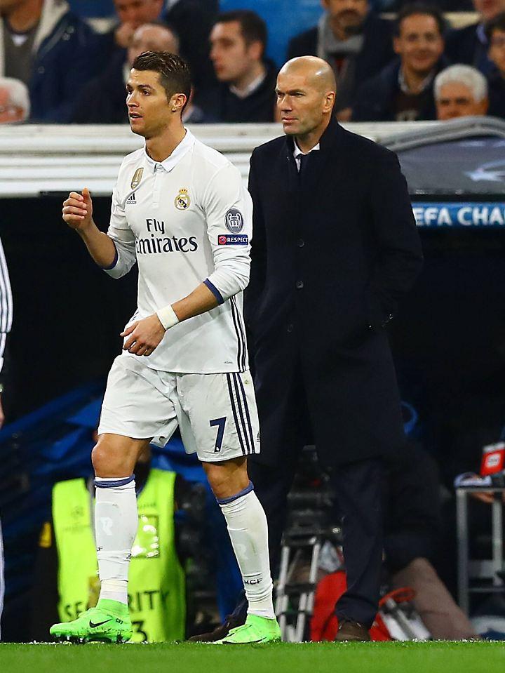 Cristiano Ronaldo hatte sich bereits häufiger mit seinem Trainer Zinedine Zidane in den Haaren.