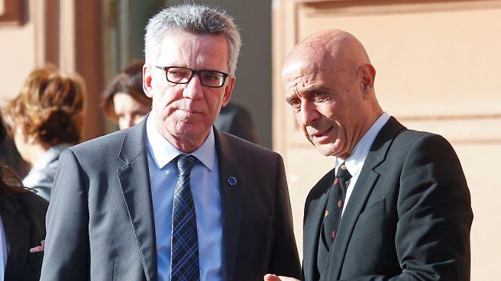 Bundesinnenminister de Maizière trifft in Rom mehrere EU-Kollegen und Vertreter nordafrikanischer Staaten.