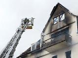 Die Wohnung befand sich im Dachgeschoss.