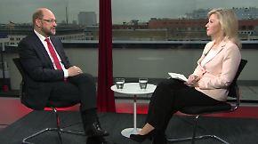 """Martin Schulz im n-tv Interview: 100 Prozent sind """"ein Vertrauensbeweis und eine Bürde"""""""