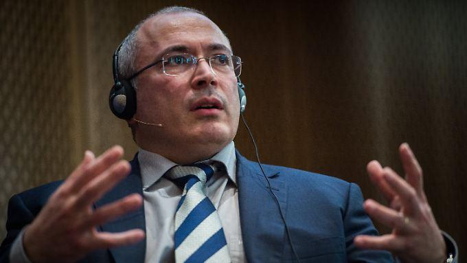 Chodorkowski am 20. März 2017 bei der European School of Management and Technology in Berlin-Mitte.