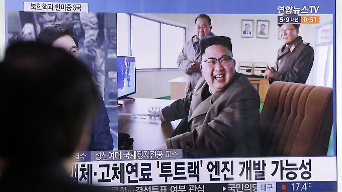 Der jüngste Raketentest dominiert auch im südkoreanischen Fernsehen die Nachrichten.