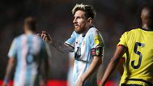 Für Lionel Messi und seine Argentinier wird es eng in der WM-Qualifikation.
