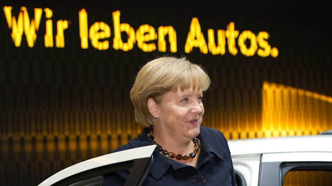 Kanzlerin Merkel findet, dass Diesel-Autos zu unrecht verunglimpft werden.