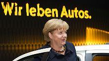 """""""Für Klimaschutz gutes Auto"""": Merkel verteidigt Diesel-Modelle"""