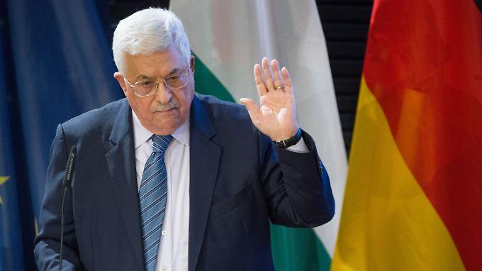 Abbas setzt auf Deutschlands gute Beziehungen zu Israel.
