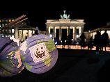 Ab 20.30 für eine Stunde unbeleuchtet: das Brandenburger Tor in Berlin.