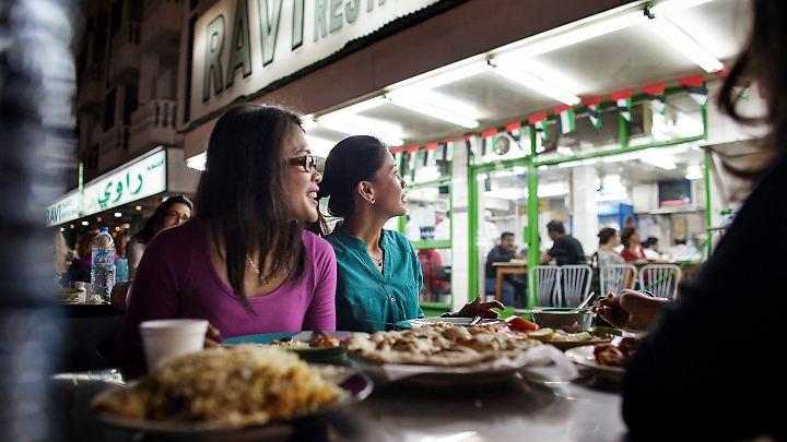 Tolles Essen gibt es auch auf der Straße.