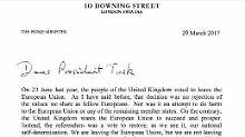 """""""Verlassen EU, nicht Europa"""": Das ist der Brexit-Brief aus London"""