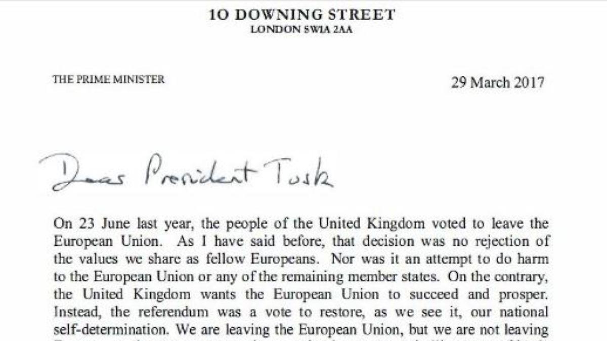 Verlassen Eu Nicht Europa Das Ist Der Brexit Brief Aus London N