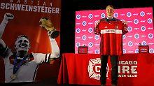 Wurde mit großen Ehren empfangen: Bastian Schweinsteiger.