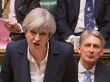 Theresa May bei der Brexit-Erklärung im Unterhaus: Ihre Versprechen wird sie nicht halten können.