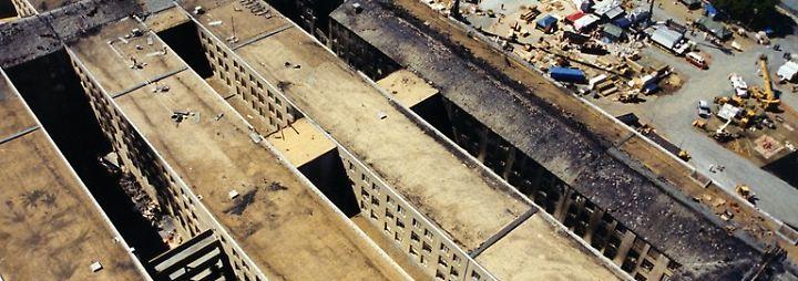 Anschlag auf das Pentagon: FBI zeigt neue Fotos vom 11. September 2001