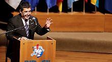 """Möchte mit der Zivilgesellschaft über eine """"lange währende Demokratie"""" reden: Präsident Cartes"""
