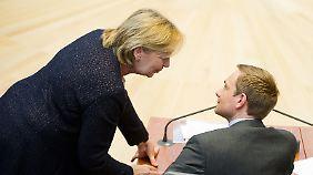 Hannelore Kraft und Christian Lindner im Landtag von NRW.