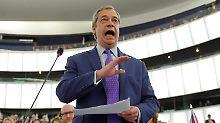 """Tumulte bei Brexit-Debatte: Farage: """"EU verhält sich wie die Mafia"""""""